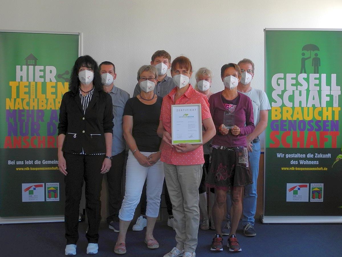 Gratulation an die VdK-Baugenossenschaft aus Stuttgart